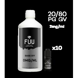 Pack 1L 20/80 2mg/ml