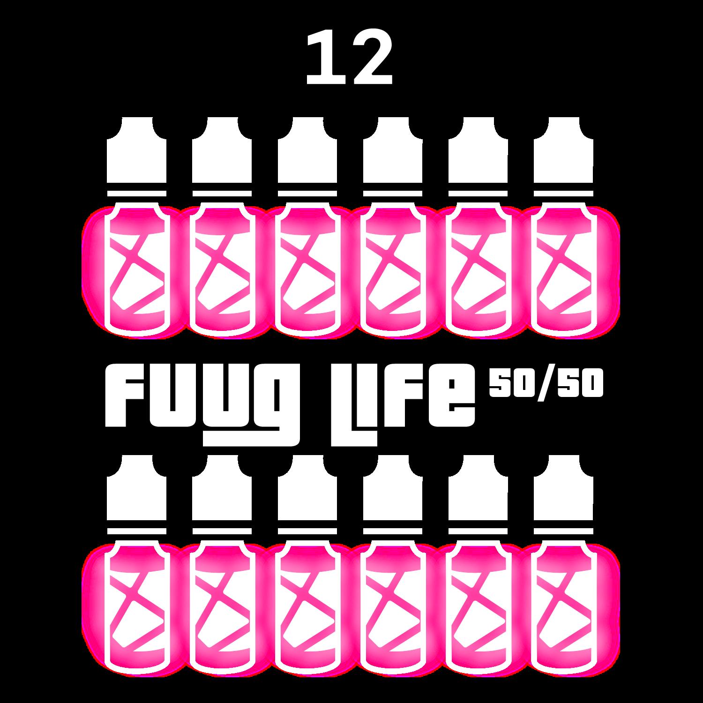 Pack 12 liquides Fuuglife 50/50