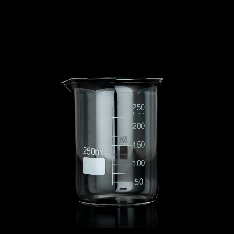 Bécher forme basse 250 ml borosilicaté