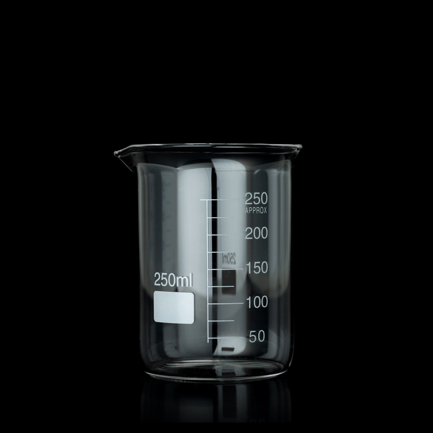Beaker Borosilicate 250ml Low Form