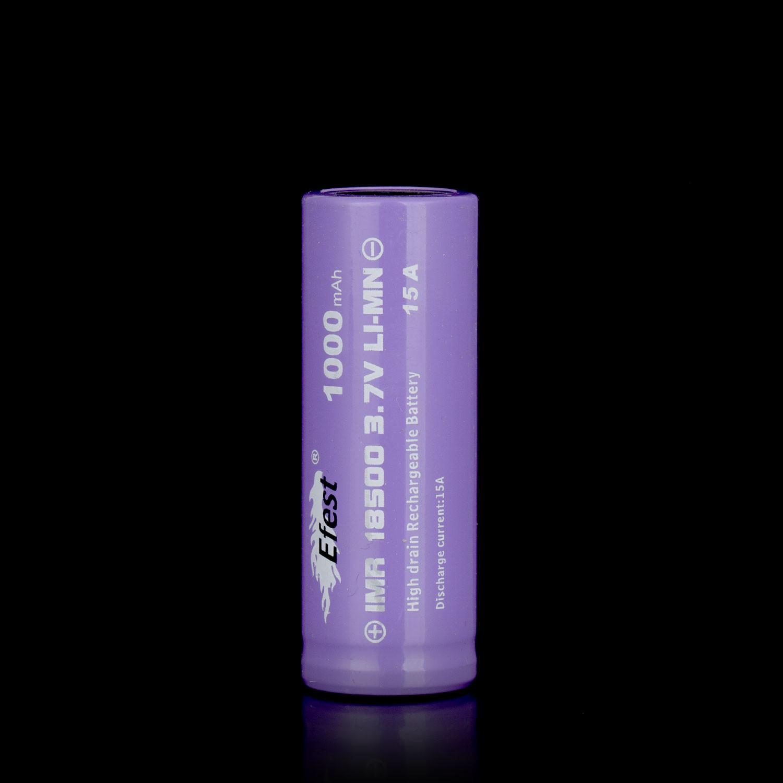 Batterie Efest IMR 18500 1000Mah 15A