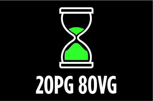 PG/VG Ratio : 20PG-80VG